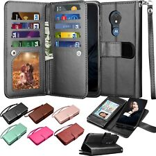Card Holder Carrying Pouch Folio Flip Leather Wallet Case Cover For Motorola