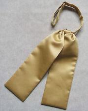 JUDGES CRAVAT BOYS PRE TIED ADJUSTABLE WEDDING AGE 4-12 SILKY GOLD GOLDEN CREAM