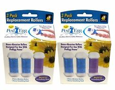 (2 Pack) PedEgg Power Replacement Rollers by BulbHead pack of 3 New