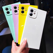 Candy Color Square edge Cover Case Phone For iPhone XR XS 12 11 Pro Max 7 8 Plus