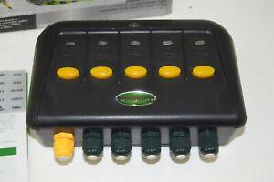 Blagdon Powersafe Weatherproof Electric Switch Box Garden Fish Pond - 5 Way