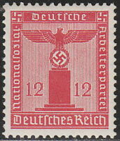 Stamp Germany Official Mi 150 Sc S7 1938 WWII Dienst Third Reich Franchise MNH
