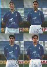 4 fotos de jugadores Real Oviedo años 90