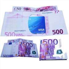Mens Womens Wallet Designer Currency Pound Euro Printed Notes Unisex Purse