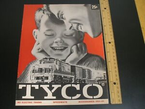 TYCO 1964-1965 HO ELECTRIC TRAINS CATALOG MODEL RAILROAD SPEEDWAYS 16 PAGES