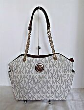 Michael Kors - Jet Set Travel Large Chain Shoulder Tote - Vanilla