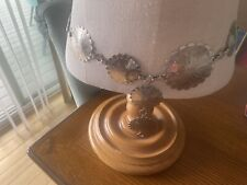 Silver Tone Floral Engraved Concho Belt 31