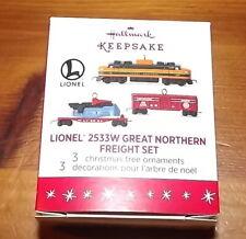 New ListingHallmark Keepsake Lionel Miniature 2016 2533W Great Northern Freight Set