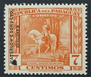 nystamps Paraguay Waterlow Color Proof Stamp Mint OG NH Only 100 Exist.  S17x882