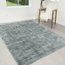 Titanium Color Rugs Tencel Ultra-Soft Hand Knotted in India Rugs for Living room