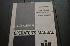 IH International Harvester 11 BALE CARRIER BIGROLE Owner Operator Manual Book