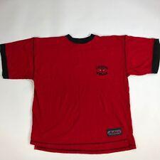Vintage Chicago Bulls Ringer T-Shirt Active Red Black Sz L H38