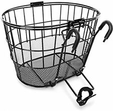 Metal & Mesh Bike Handlebar Basket Beach Cruiser Mobility Cart Electric Scooter