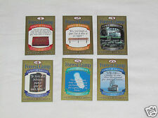 FORREST GUMP Hershey Canada 6 PROMO CARD SET French Esprit & Sagesse Wit &Wisdom