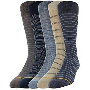 Goldtoe Signature Gold Men's Dress Crew Socks 3pk - Blue Stripe 6-12.5