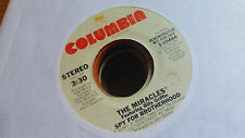 The Miracles feat Billy Griffin 45 Spy for Brotherhood Promo 70s Modern Soul