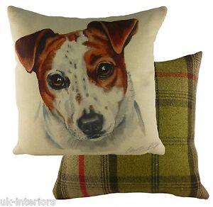 "17"" Jack Russell Dog Cushion Evans Lichfield DP930 43cm Waggydogz"