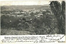 GORGONA American Settlement PANAMA Central America Vintage PC Cristobal 1913