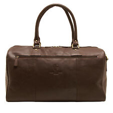 Underwood & tanner-brown george shoreditch cuir voyage holdall
