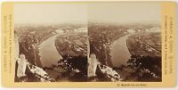 Stiehm, Germania, Dresda Aussicht Bastei, Foto Stereo Vintage Albumina