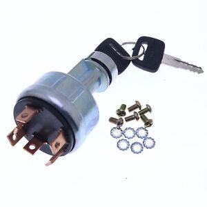 Ignition Switch CH11696 W/Key for John Deere 650 750 850 950 1050 1250 1450 1650