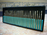 30 pieces THK Diamond coated rotary pointed head burrs burs drill bits TYPE 2