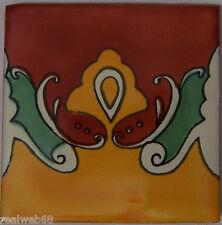 """90 Clay Talavera Handmade Mexican Tile 4x4""""  C206"""