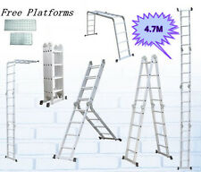 4.7 M Multi Purpose Function Adjustable Configuration Folding Aluminium Ladder