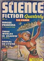 FEB1952 SCIENCE FICTION QUARTERLY pulp magazine PINUP GIRL