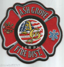 """Ash Grove Fire District, MO  (4"""" x 4"""" size) fire patch"""