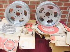 1969 ROCKET TRAC MASTER ALUMINUM SLOT WHEELS 14X7 5 LUG 4 3/4 BC GM STREET ROD