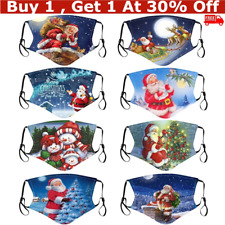 1*Christmas Face Protective Covering Reusable Adults Party Home Decor Xmas Gifts