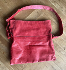 Rare MIMI Berry Vintage red butter soft Leather shoulder Bag Made in England