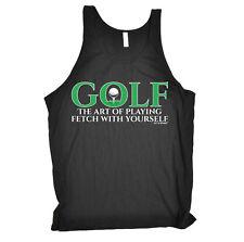 Golf The Art Of Playing Fetch Golfing golf funny BirthdayáBella Vest Singlet