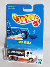 Hot Wheels Mid 1990s Blue & White Card #147 Tank Truck White WATER Dust Control