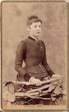 CDV photo Feine Dame - Trieste Triest 1880er