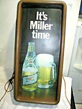 """Vintage Miller Brewing Light Up Beer Sign """"It's Miller Time"""""""