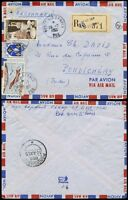 FRENCH INDIA from INDOCHINA 1955 MILITARY POST T.O.E REGISTERED AIRMAIL