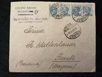 Italien 30.05.1923 - König Viktor Emanuel, Brief von Bologna nach Fürth /Bayern