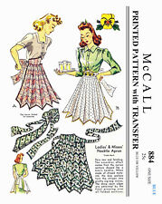 Vintage McCall necktie Apron Fabric Material Sewing Pattern  #884