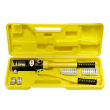 ABN® | Hydraulic Crimper (16 Ton) Cable Crimping Tool with 11 Crimper Dies