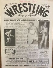 Memphis Wrestling Program: Sputnik Monroe, Billy Wicks, Tom Drake