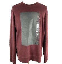 Calvin Klein Jeans Men's Ck Box Logo Knockout Crew Neck Sweatshirt, X-LARGE-NEW
