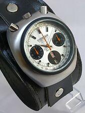 Citizen Chronograph Bullhead 8110A Serviced SSB Automatic Men's Wristwatch N210