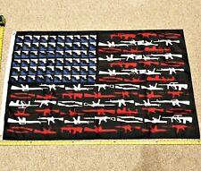 America NRA Gun FREE SHIPPING Flag Veterans Banner Poster Army Trump Guns 3x5'