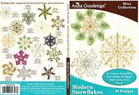 Anita Goodesign Modern Snowflakes Embroidery Machine Design CD NEW 105MAGHD