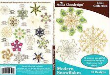 Anita Goodesign Modern Snowflakes Embroidery Machine Design CD NEW 105MAGHD