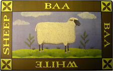 Baa Baa White Sheep Country Primitive Farm Pasture Metal Sign
