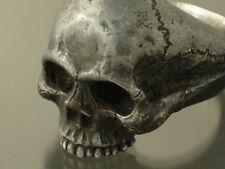SALE! MEN;S STERLING SILVER SKULL RING!  masonic handmade jewelry.925