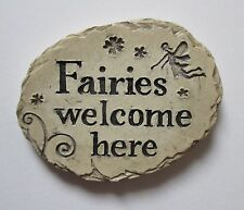 i Fairies welcome here Fairy Garden Stepping Stone miniature ganz